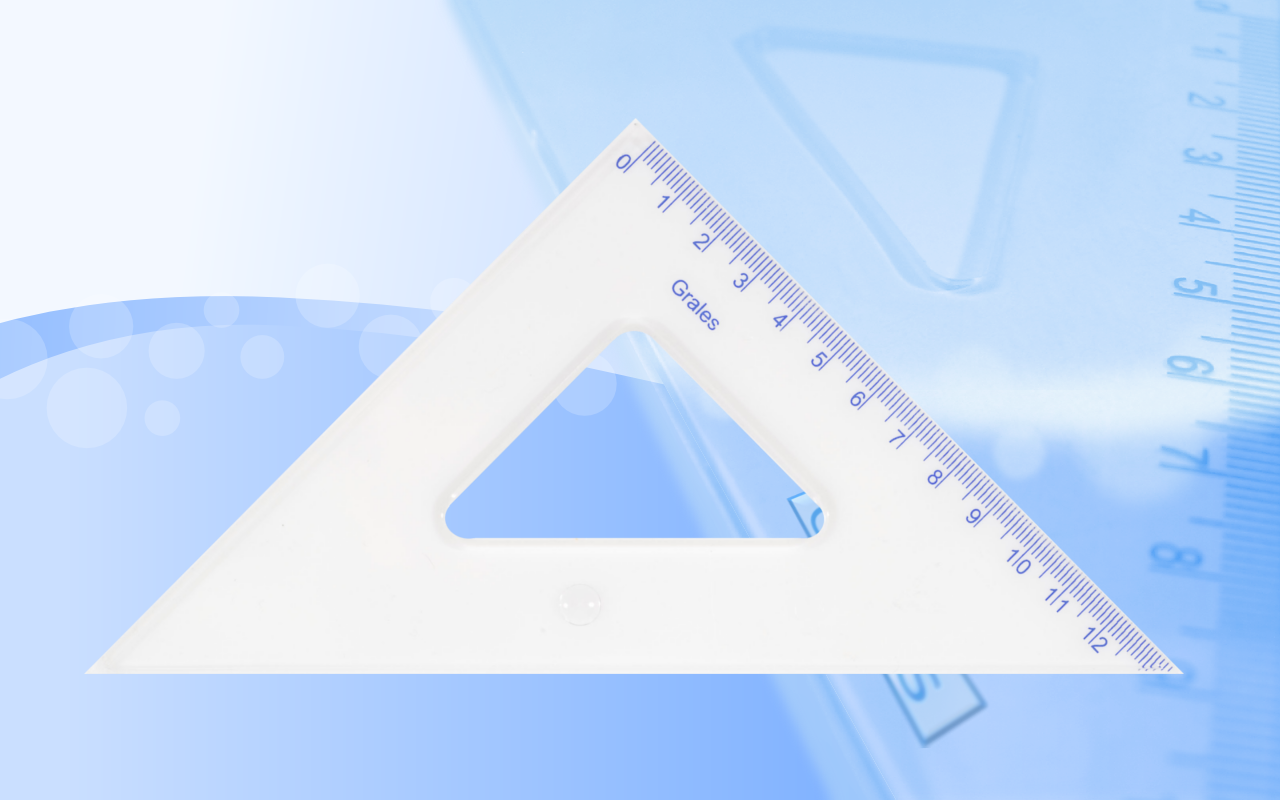 Ekierki 45° duże równoramienne