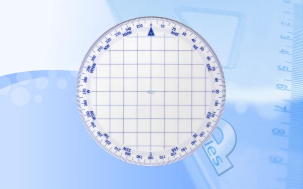 Kątomierz okrągły mapowy