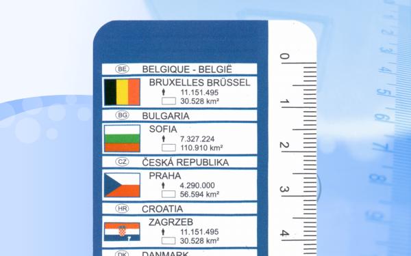 Linijka 30cm z państwami Unii Europejskiej